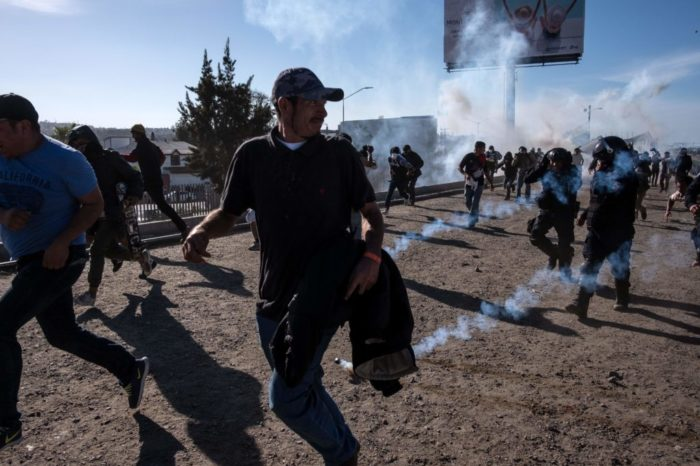 Border Patrol Defends use of tear gas at  the border