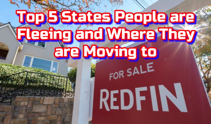 Top 5 States People are Fleeing and Where are They Moving to