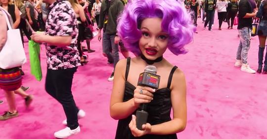 Child Drag Queen Age 10 Photographed with Nude Adult Drag Star