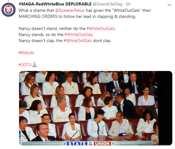 WHAT DO THE STATE OF THE UNION'S LADIES IN WHITE STAND FOR?