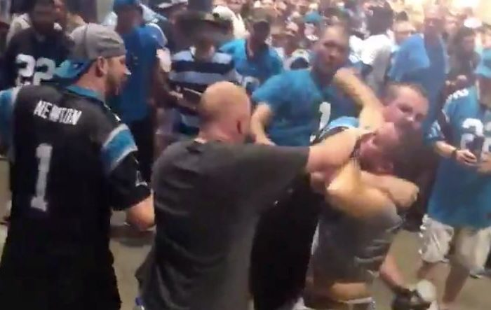 Carolina Panthers Fans Brawl During Rain Delay