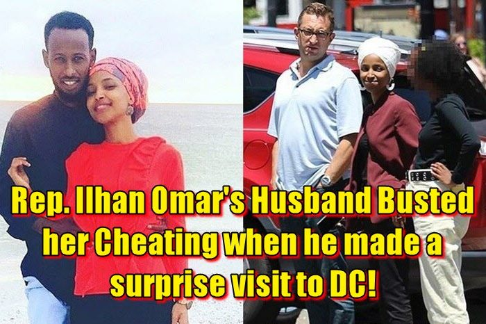 Rep. Ilhan Omar's Husband Busted her Cheating when he made a surprise visit to DC!