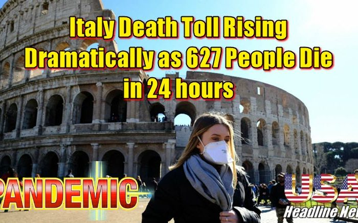 Italy Death Toll Rising Dramatically as 627 People Die in 24 hours