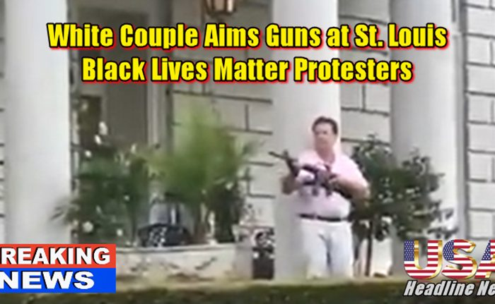 White Couple Aims Guns at St. Louis Black Lives Matter Protesters