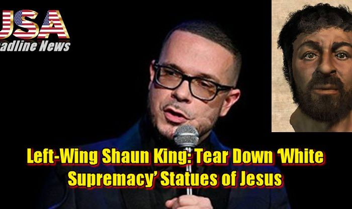 Left-Wing Shaun King: Tear Down 'White Supremacy' Statues of Jesus