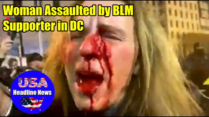Woman Assaulted by BLM Supporter in DC